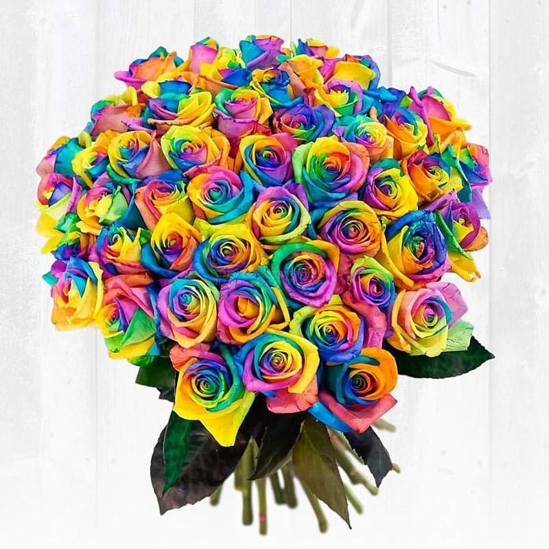 best flower delivery website rainbow rose bouquet wood – Same Day ...