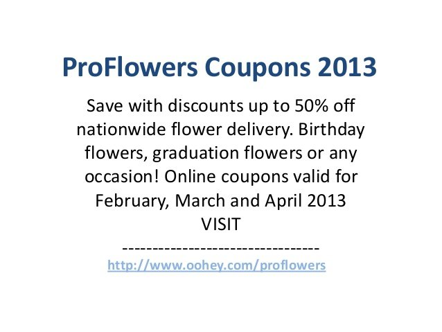 Floral Delivery Coupons