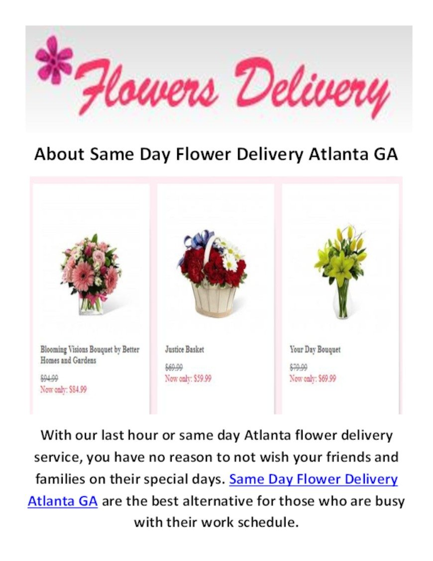 Flower delivery atlanta can be fun for everyone same day flower flower delivery atlanta can be fun for everyone izmirmasajfo