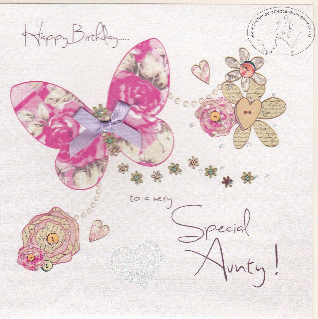 Flower Delivery England Special Aunty Birthday Card Erfly Heart Flowers For Aunt