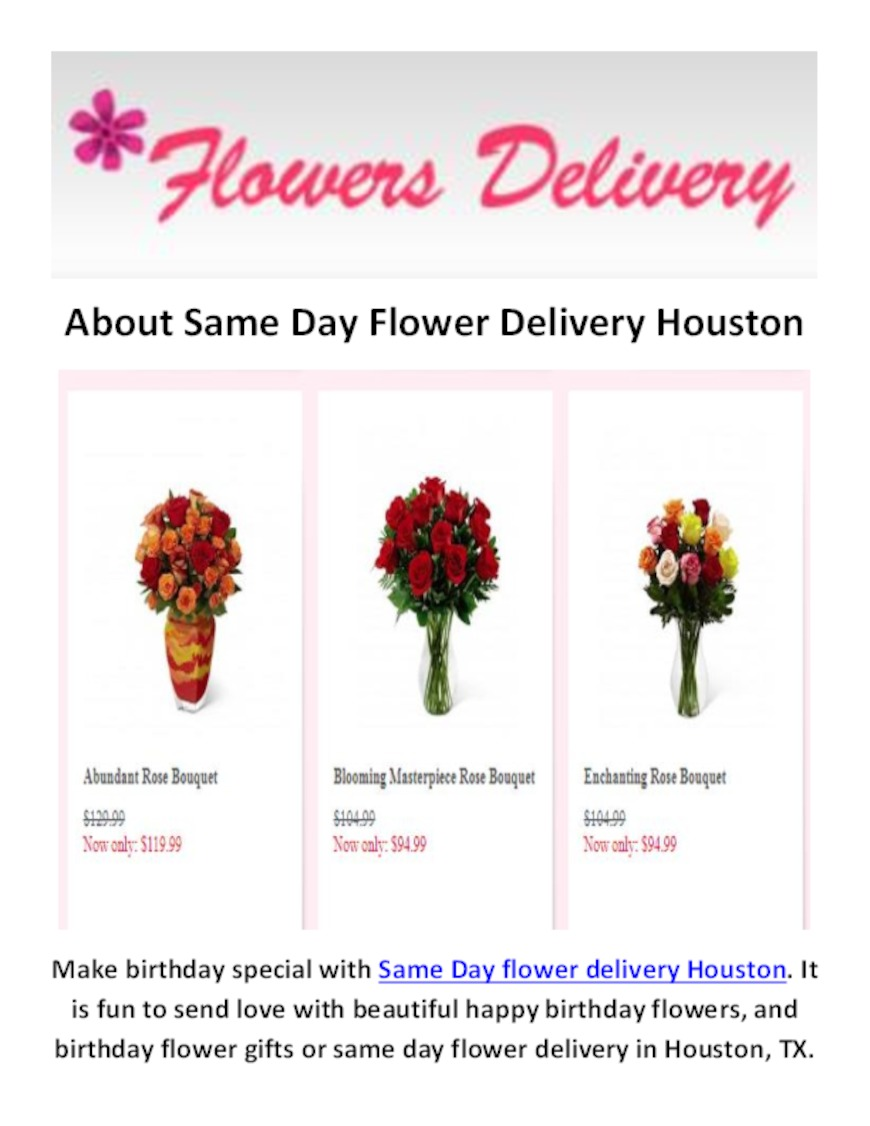 Same Day Flower Delivery Houston Same Day Flower Delivery