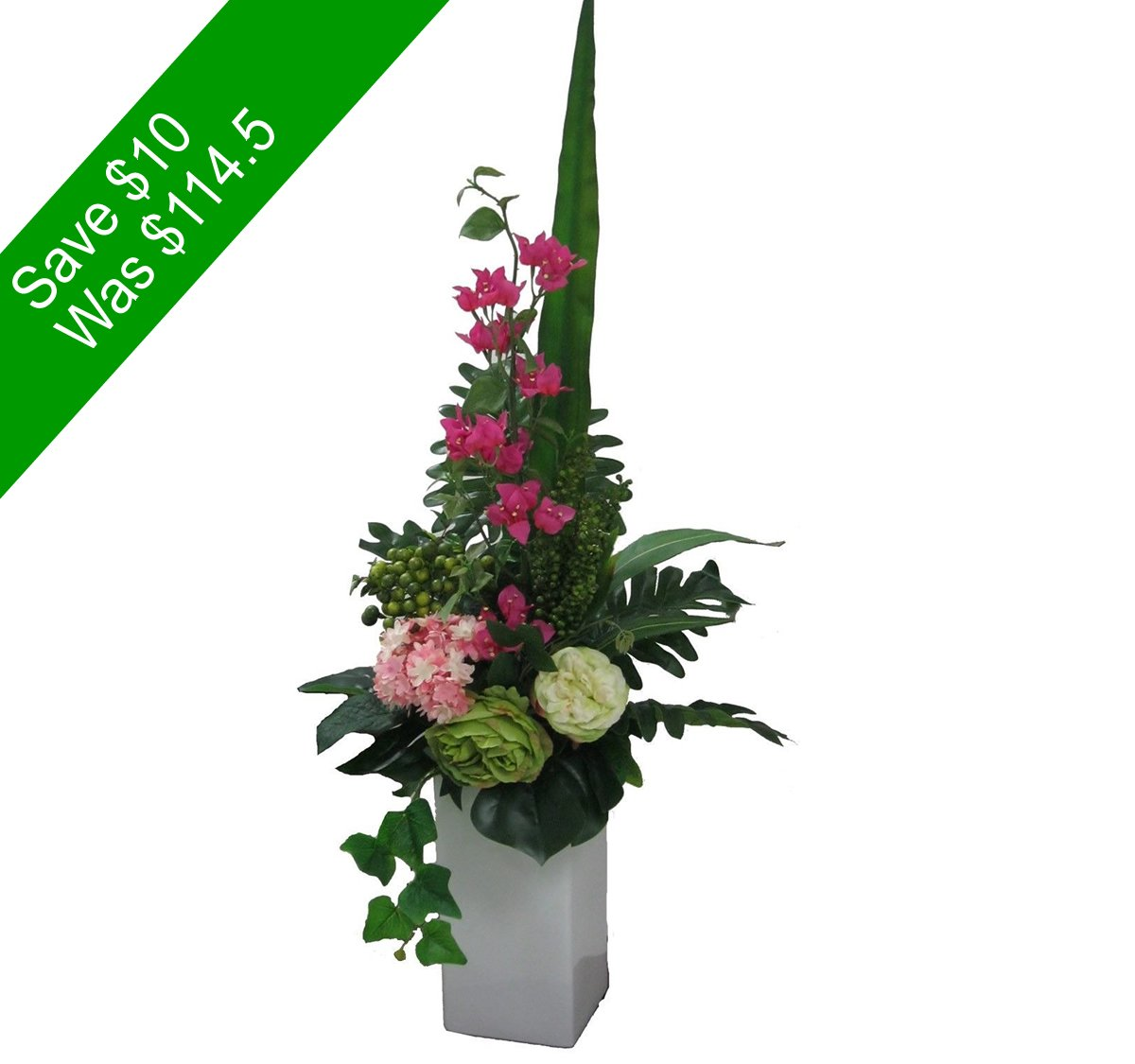 Same day flowers delivery sydney same day flower delivery by httpsangkorflowerswp contentuploads201511artificial flowers green and pink tall vase arrangement save10 for home decor or giftingg izmirmasajfo Gallery