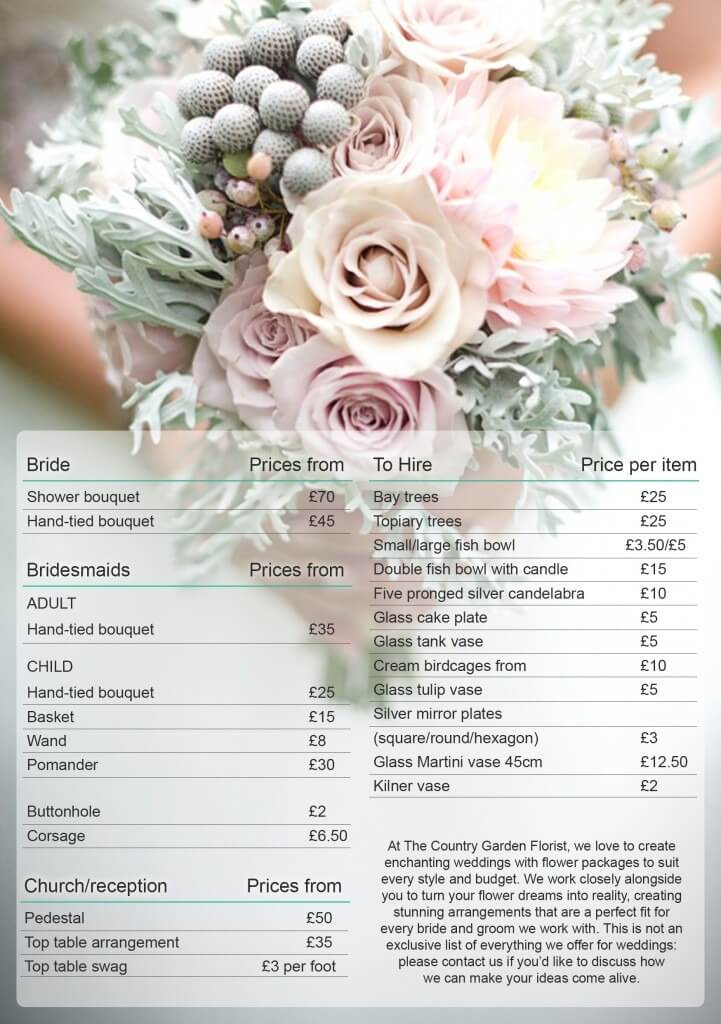 Back To Post Wedding Bouquets Prices