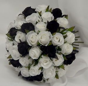 Black And White Fake Flowers Same Day Flower Delivery