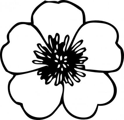 Black And White Spring Flowers Clip Art Columbine Clipart Flower