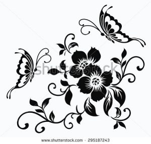 Black And White Spring Flowers Clip Art Same Day Flower Delivery