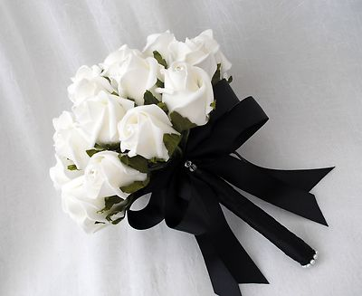 Bouquet of flowers black and white same day flower delivery by httpweddings plazawp contentuploads201111choose to be classy and have a black and white wedding bouquet 2g mightylinksfo