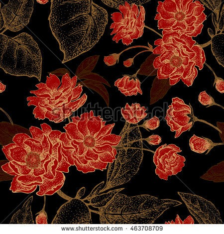 Chinese silk flowers same day flower delivery by httpsthumb1utterstockdisplaypicwithlogo1785638463708709stock vector vector seamless floral pattern with leaves flowers and branches of mightylinksfo