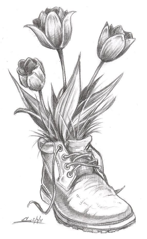 Flowers to sketch (Pinterest)