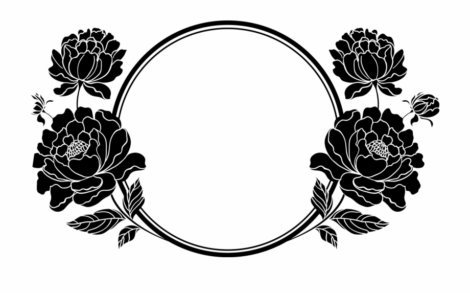 Flower Frame Black