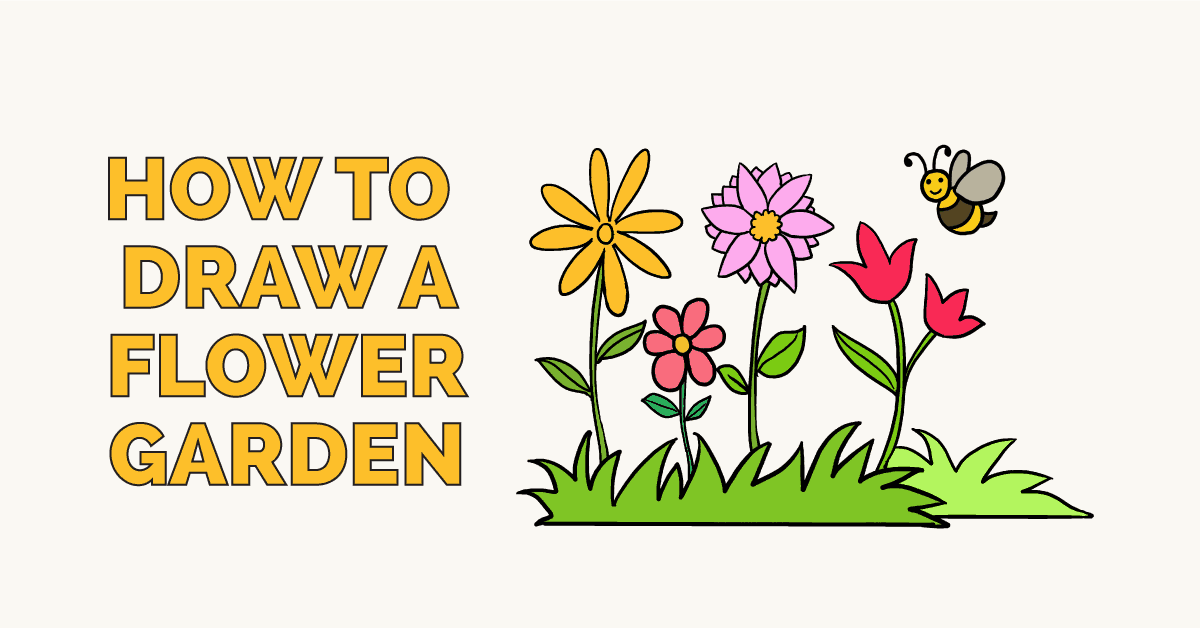 How To Draw Flower Garden