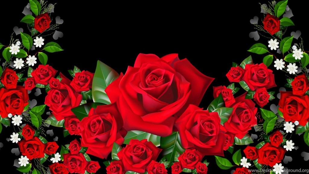 Red roses wallpaper border