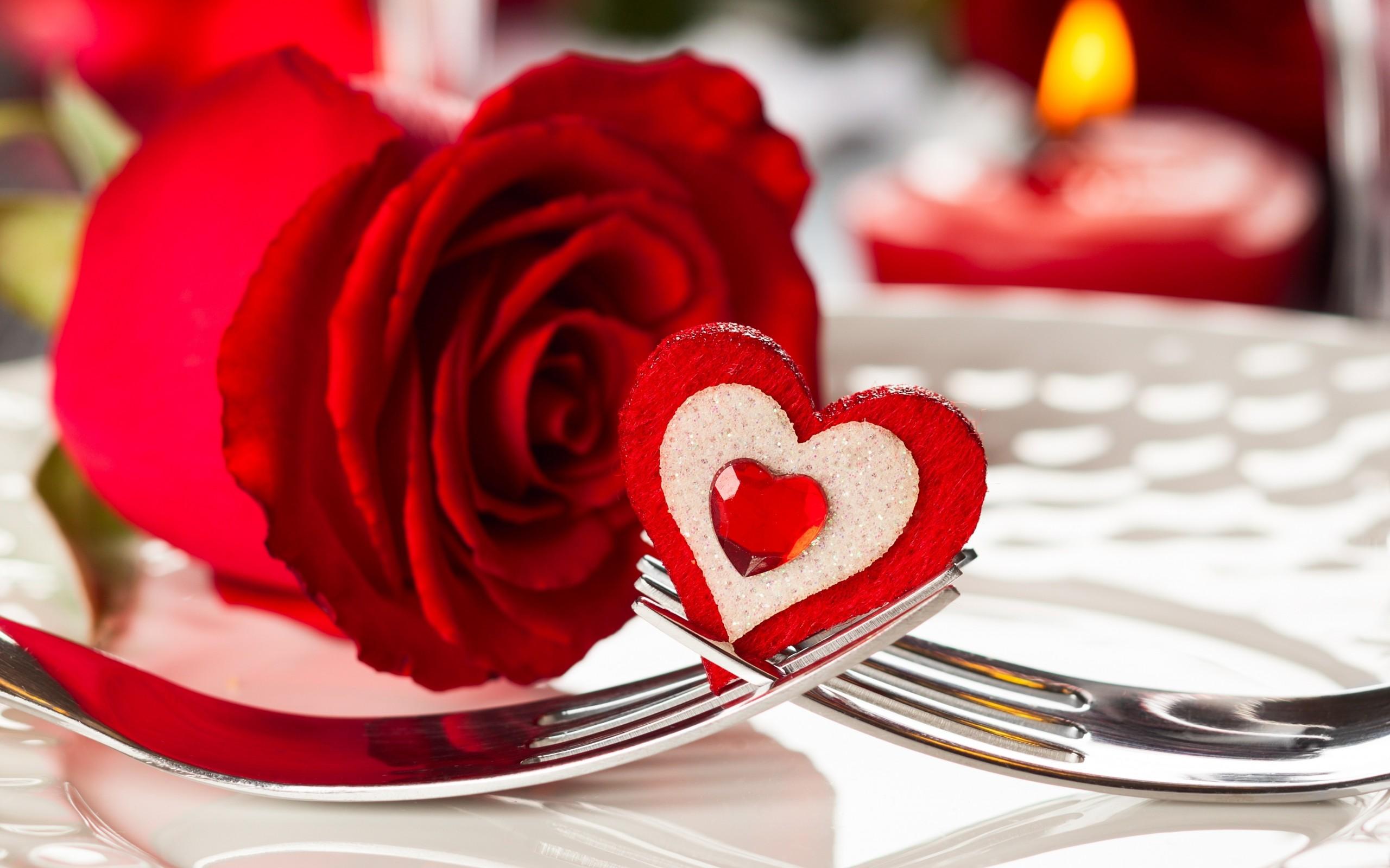 Red roses wallpaper heart