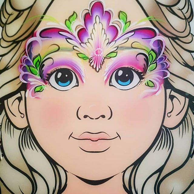 Flower Power Face Paint