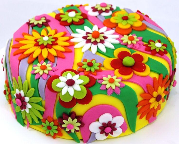 Flower Power Cake (Pinterest)